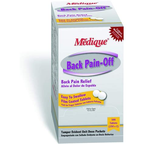 Medique Products 07313 Back Pain-Off Back Pain Relief ...