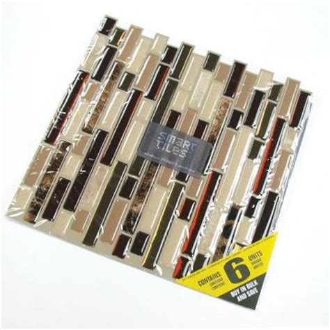 smart tiles peel and stick bellagio mosaik smart tiles 10 13 in x 10 in peel and stick mosaic
