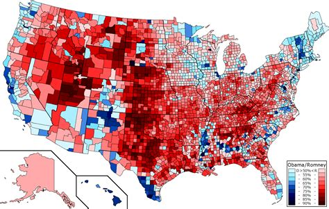 2016 Presidential Election Map by Counties