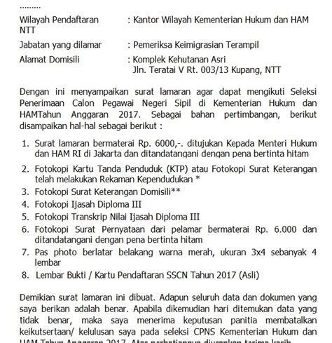 Surat Lamaran Cpns Kemendikbud by Contoh Surat Lamaran Kerja Cpns Kemdikbud Inventors Day