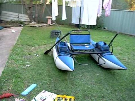 Inflatable Boat Fishing Youtube by Inflatable Fishing Pontoon Boat Youtube
