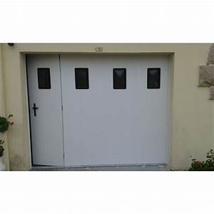 porte de garage laterale coulissante pvc manuelle With porte de garage enroulable avec porte coulissante pvc