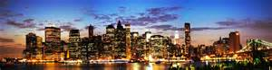 New York Skyline At Night Panoramic Wwwpixsharkcom