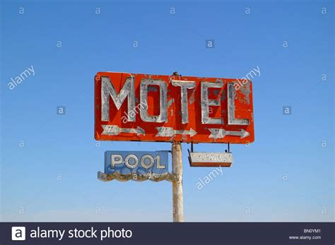 Cowgill S Route 66 Sign Near Truxton Historic Route 66 Highway Motel Stock Photos Highway Motel Stock Images