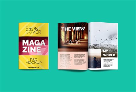 Magazine mockups are a must for graphic designers who are engaged in printable magazine design. Magazine PSD Mockup - GraphicsFuel