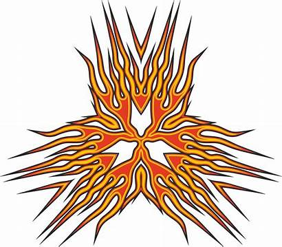 Abstract Flame Clipart Vector Triangle Flames Openclipart