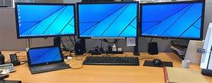 All running from a Surface Pro 2 (via a Dual Display Dock