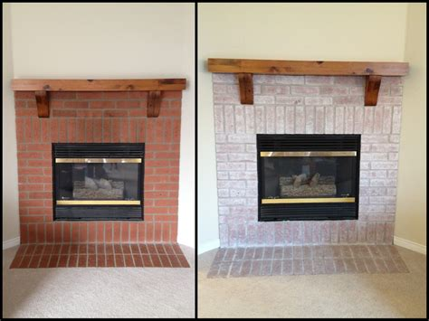 whitewash fireplace whitewashed fireplace before after fireplaces pinterest painting fireplace white