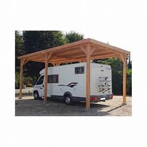 Abri Camping Car Bois : abri camping car toit plat realise en bois douglas ~ Dailycaller-alerts.com Idées de Décoration