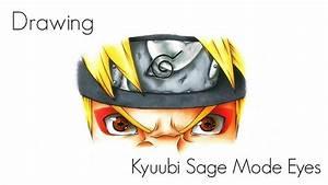 Drawing Naruto's Kyuubi Sage Mode Eyes - YouTube