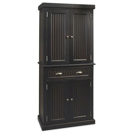 pantry  distressed black finish