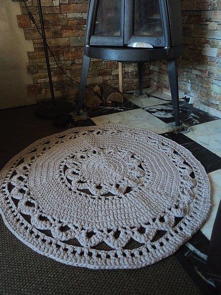 tapis crochet ideas  pinterest rag rug diy