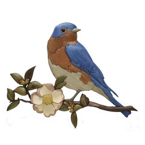 bluebird dogwood intarsia pattern workshop supply