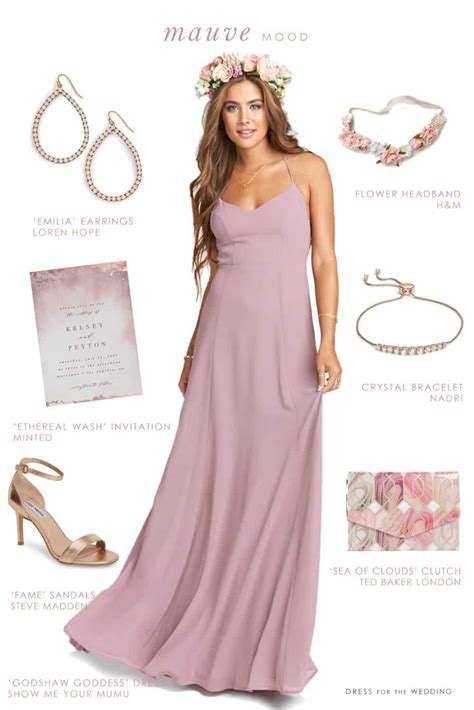 Mauve Maxi Dress For Bridesmaids Dress For The Wedding