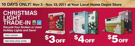 recycle old christmas lights at home depot nov 3 11 ctww