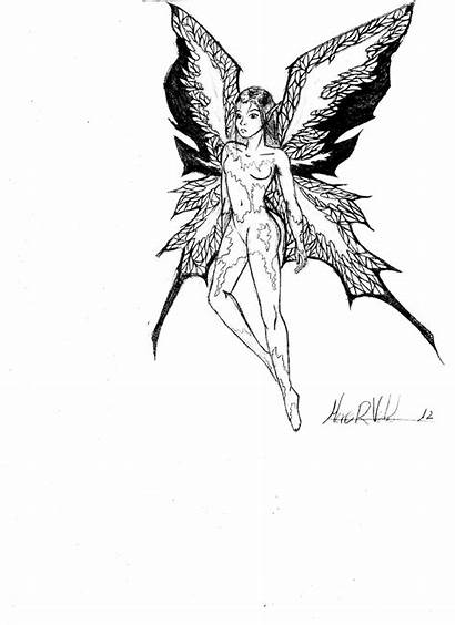 Fairy Cool Drawings Coloring Pages Fairies Exotic