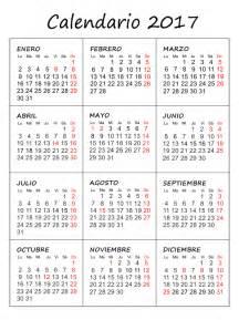 calendario 2017 gratis para imprimir 2017 calendar