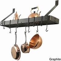 pot and pan hanging rack Kitchen Pot Rack Holder Pan Hanging Wall Organizer Cookware Storage Mount Hanger | eBay