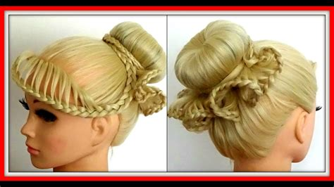 Frilly Lace Braid Bun Hairstyle / Hairglamour Styles