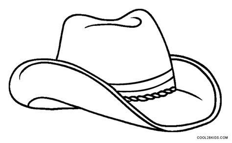 cowboy hat template printable cowboy coloring pages for cool2bkids