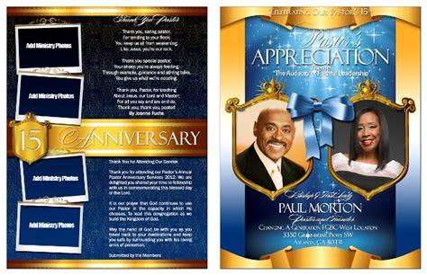 pastor anniversary program templates pastor and anniversary celebration program bulletins 23908