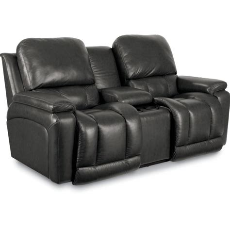 leather reclining loveseat with console greyson la z time 174 leather reclining sofa collection