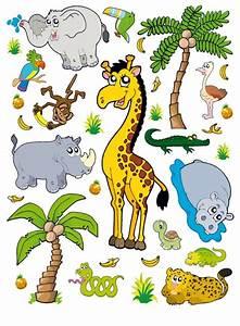Tiere Für Kinder : kinder wandtattoo wandsticker tattoo wanddeko dschungel ~ Lizthompson.info Haus und Dekorationen
