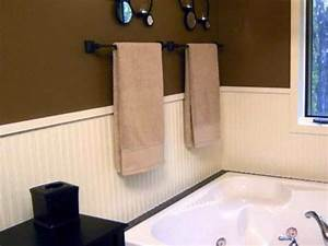 Walls simple ways to install faux wainscoting wallpaper for Installing wainscoting in bathroom