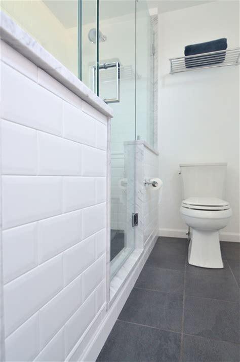 white subway tile modern bathroom philadelphia