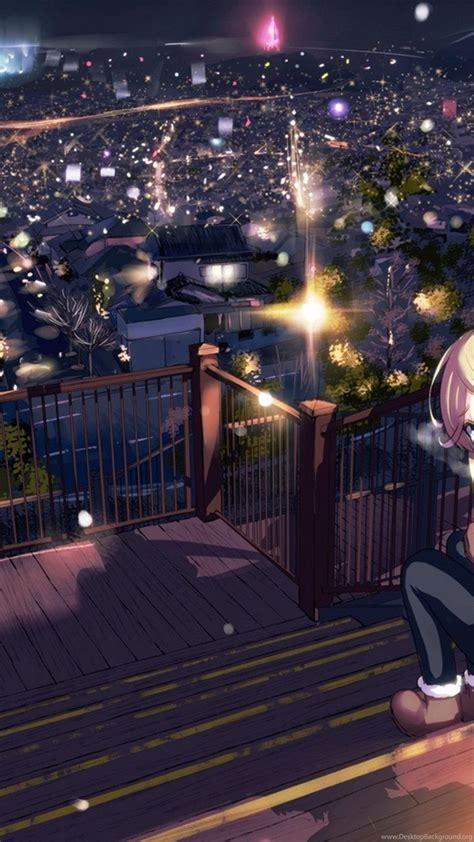 wallpapers  landscape blue anime