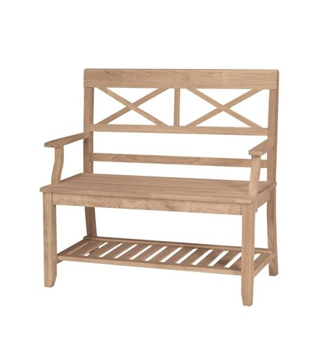 [38 Inch] Xxback Bench  Bare Wood Fine Wood Furniture