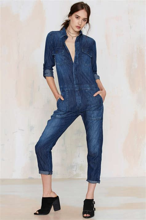 one denim jumpsuit 14 denim jumpsuits that getting dressed on winter