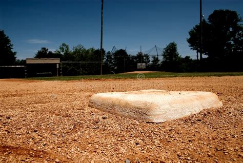 base bag  baseball field royalty  stock