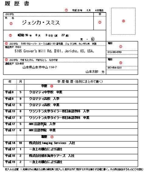 rirekisho the japanese resume turningpin s mad tokyo