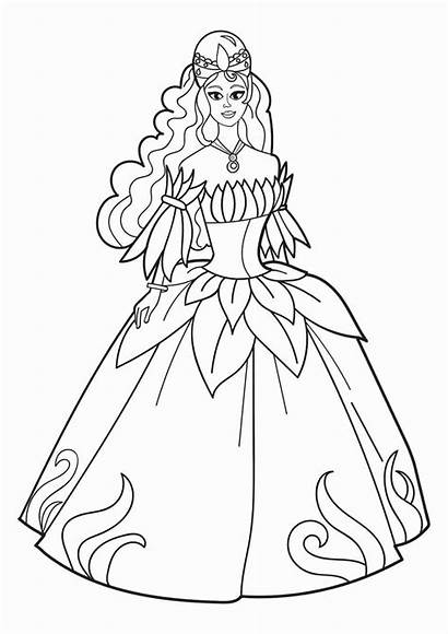 Coloring Princess Pages Flower Printable Prinses Feest