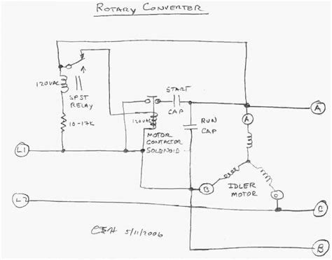 Weg Single Phase Capacitor Motor Wiring Diagram by 3 Phase Rotary Converter Wiring Diagram