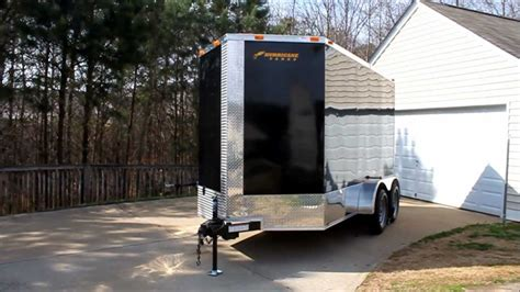 hurricane trailer  tandem axel  nose black  chrome