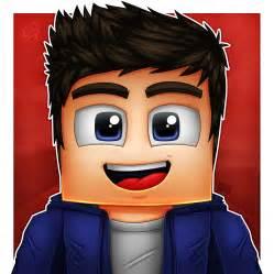YouTube Minecraft Cartoon Avatar Profile Pic