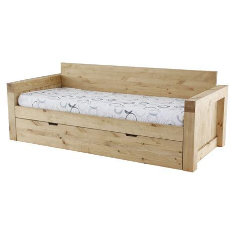 canapé gigogne montagne canapé 2 places microfibre et bois massif avec
