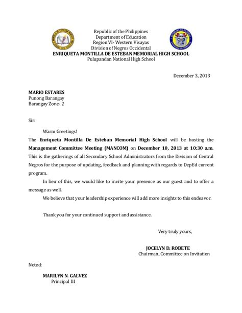 invitation letter mancom