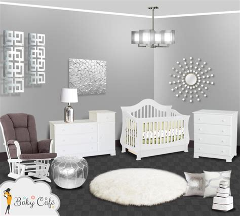 Kitchen Cabinet Decorating Ideas - silver modern baby nursery modern other metro by simply baby furniture