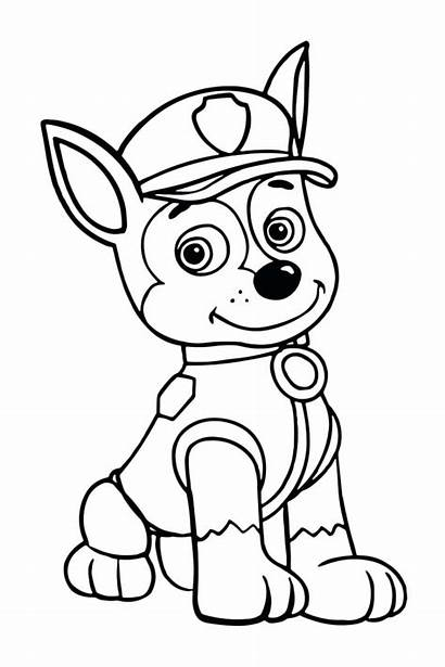 Patrol Paw Coloring Chase Pages Printable Tracker