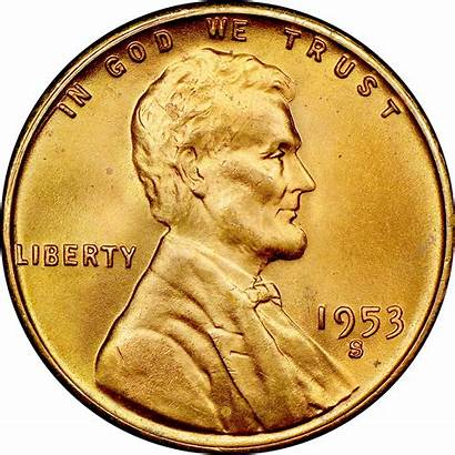 1953 Reverse Coin Wheat 1c Ms Link