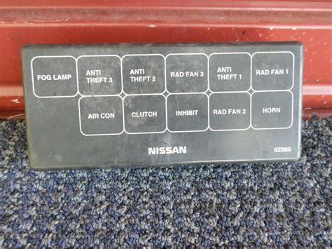Nissan Fuse Box Cover by 2001 Nissan Altima Fuse Box Lid Cover 1 Oem Ebay