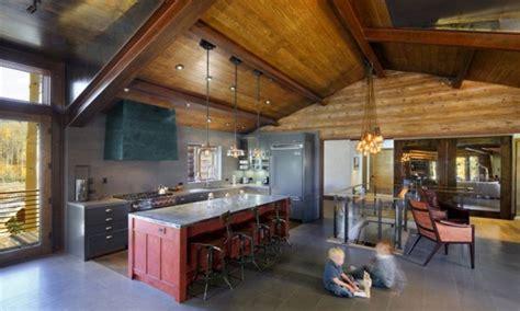 modern rustic cabin kitchen diy cabin kitchen mountain