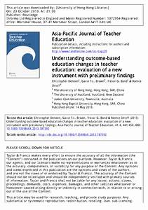 (PDF) Understanding outcome-based education changes in ...