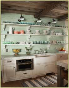 Green Kitchen Backsplash Tile Green Glass Subway Tile Backsplash Home Design Ideas
