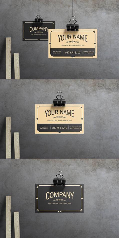 yukon business card business card mock  modern
