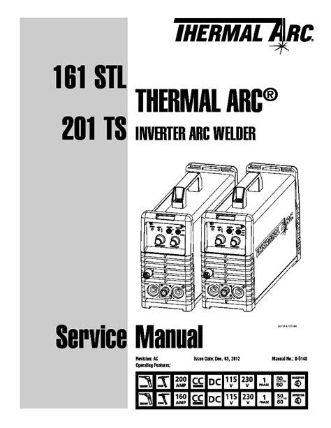 thermal arc 161 stl 201 ts inverter welder sm service manual schematics eeprom