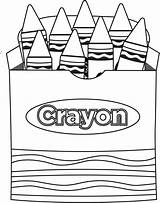Crayon Clip Coloring Clipart Clipartion sketch template